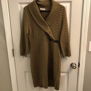 Calvin Klein Brown Sweater Dress